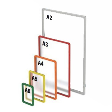 Plastic showcard frames